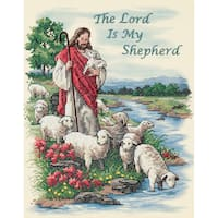 """The Lord Is My Shepherd Stamped Cross Stitch Kit-11""""X14"""""""