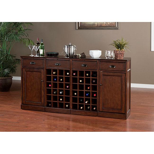 Overstock Bar: Canton 4-piece Modular Bar/ Wine Storage Set