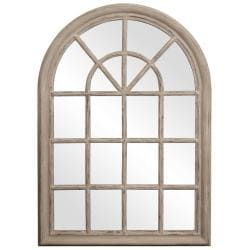 Windowpane Taupe Mirror 14306761 Overstock Com