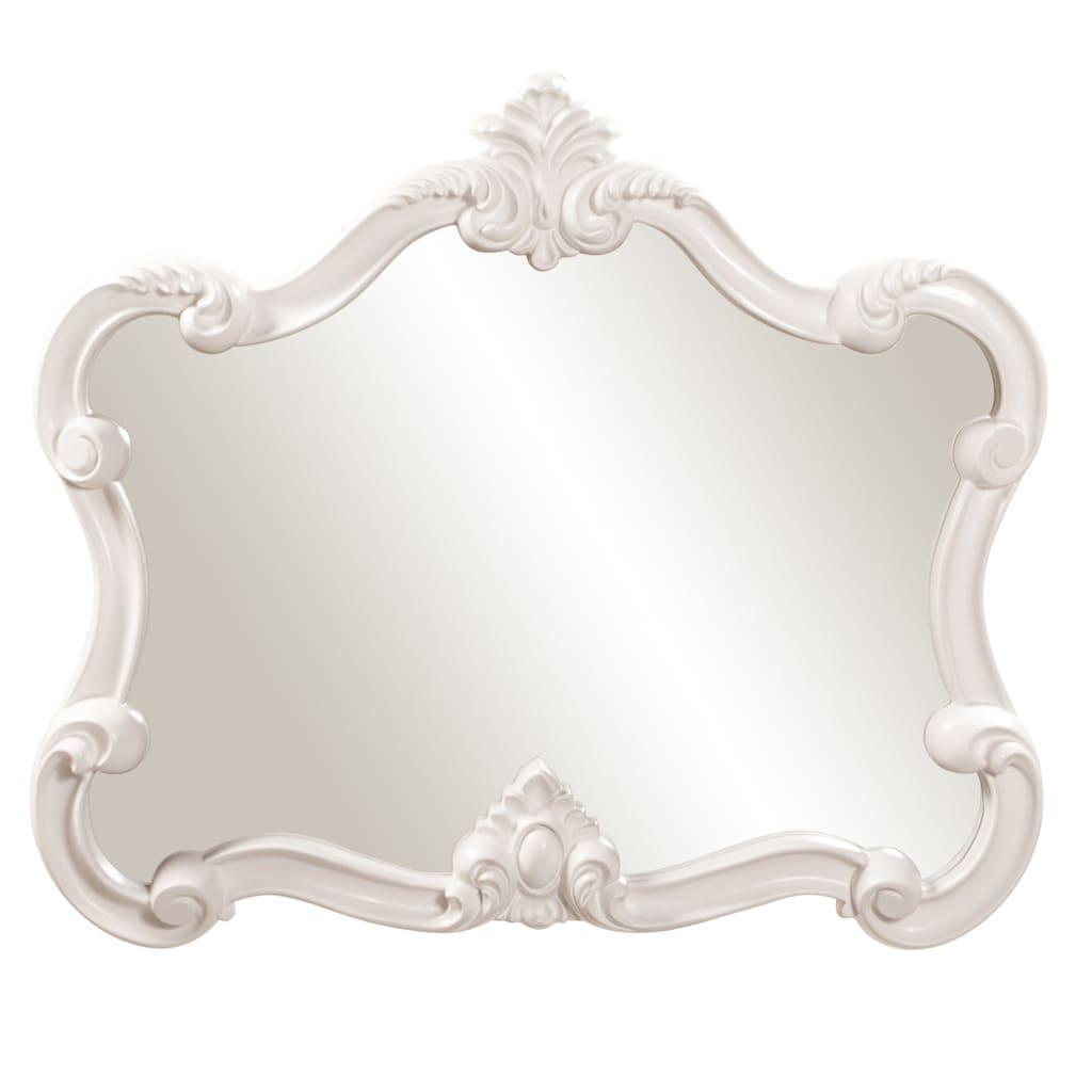 Overstock Mirrors: Glossy White Veruca Mirror