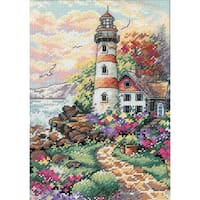 """Gold Collection Petite Beacon At Daybreak Counted Cross Stit-5""""X7"""""""