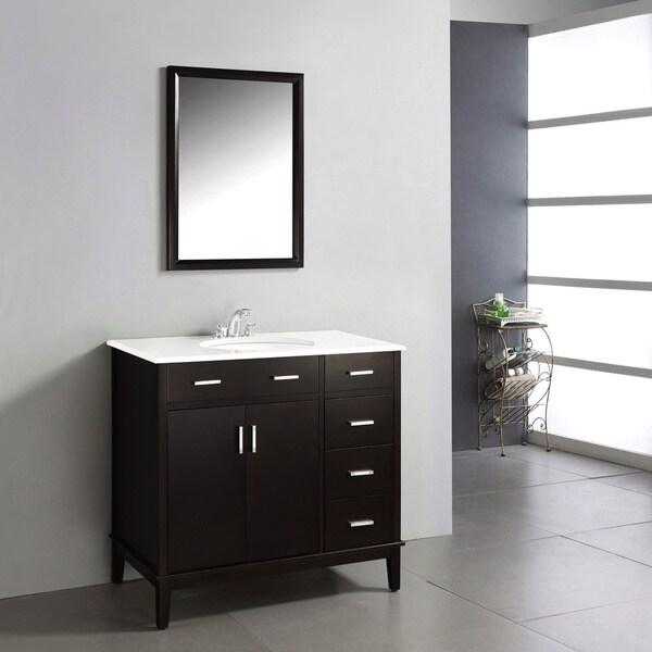 New Doors For Bathroom Vanity: WYNDENHALL Oxford Dark Espresso Brown 2-door 36-inch Bath