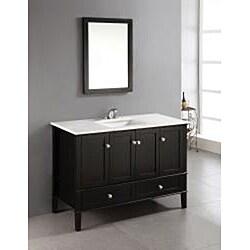 Windham Black 48-inch Bath Vanity with 2 Doors, Bottom ...