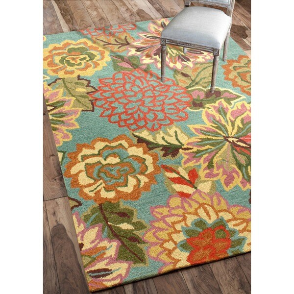 Nuloom Handmade Bold Floral Wool Rug 5 X 7 6 14319263