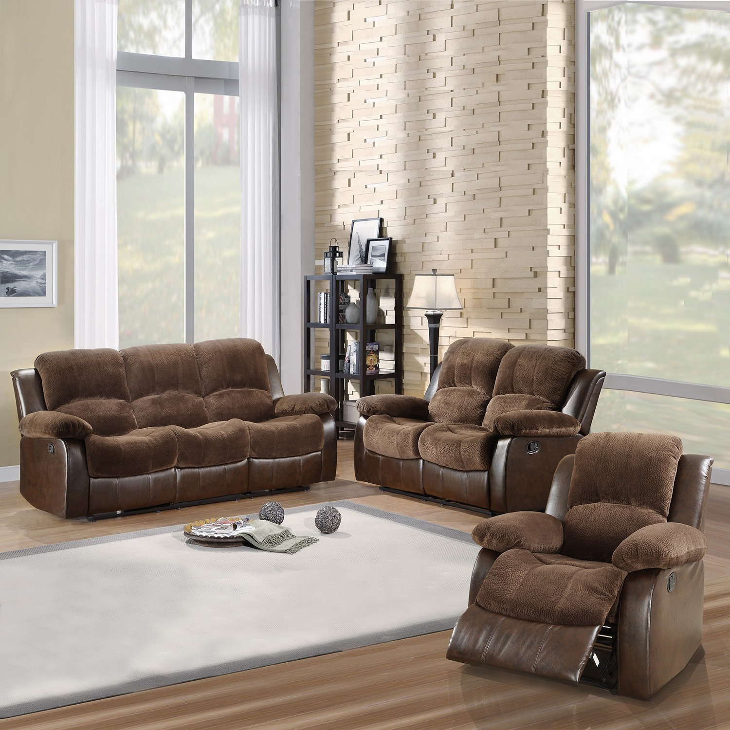 Overstock Living Room Sets: TRIBECCA HOME Coleford 3-piece Tufted Transitional