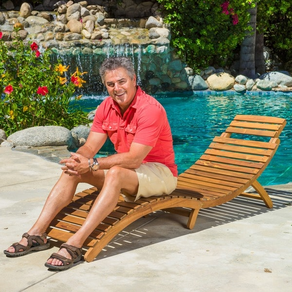 Christopher Knight Home Lahaina Outdoor Acacia Wood Chaise