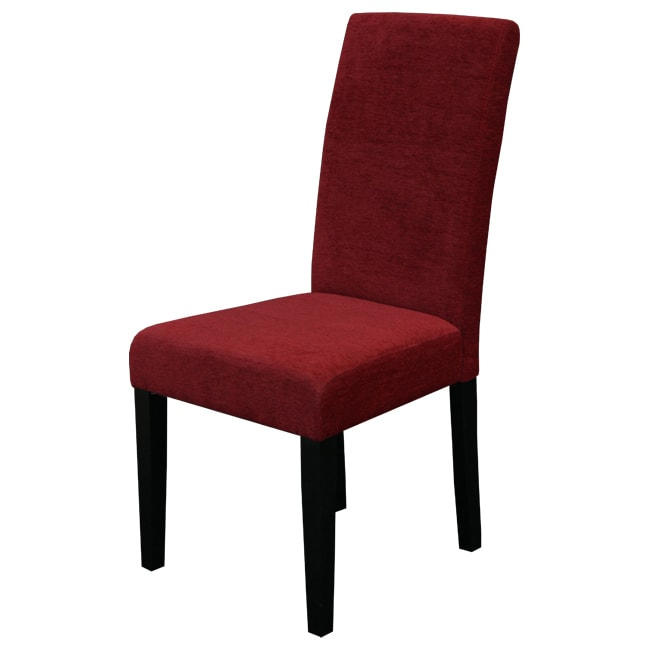 Red Dining Room Furniture: Aprilia Dark Red Upholstered Dining Chairs Set Of 2 Room