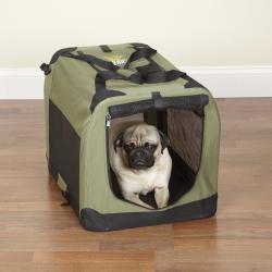 Go Pet Club Blue 28 Inch Soft Folding Dog Crate House