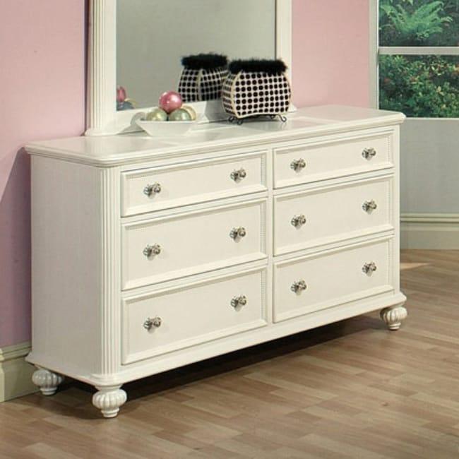 Discount Dressers Online: Athena White Finish Dresser