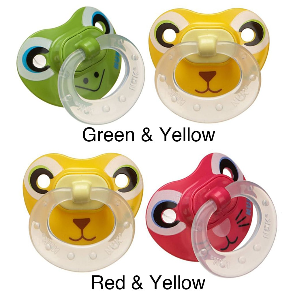 Nuk Animal Faces Size 2 Silicone Pacifiers Pack Of 2