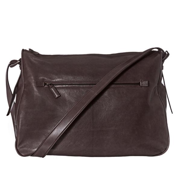 Prada Brown Leather Messenger Bag - xskoshop4 43d1d12156869
