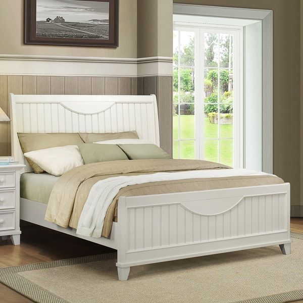Tribecca Home Alderson Cottage White Beadboard Crescent