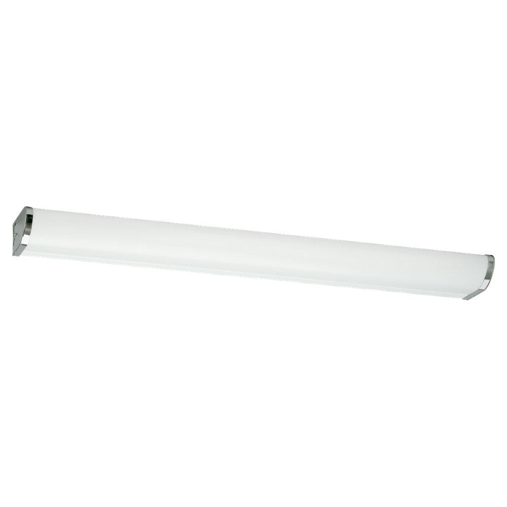 48 Light Fixture: Indoor 2-light 48-inch Polished Chrome Fluorescent Linear