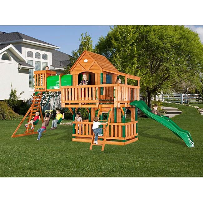 Backyard Discovery Woodridge All Cedar Swing Set ...