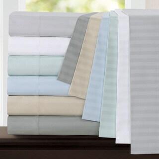 Echelon Home Egyptian Cotton Stripe 800 Thread Count Pillowcases (Set of 2)