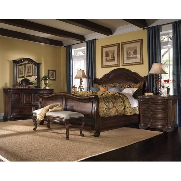 Coronado 5 piece king size leather sleigh bedroom set - 5 piece queen sleigh bedroom set ...