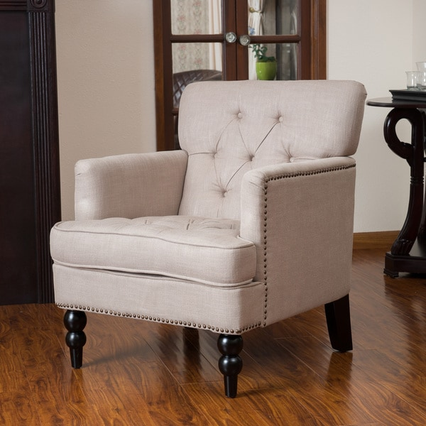 Christopher Knight Home Malone Beige Club Chair 14341797