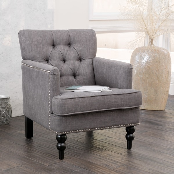Cheap Living Room Furniture For Sale: Christopher Knight Home Malone Charcoal Grey Club Chair