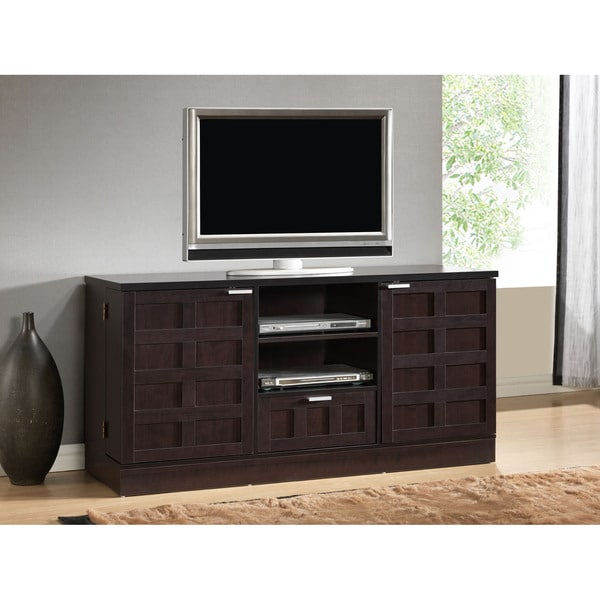 Tv Storage Furniture: Tosato Brown Modern TV Stand And Media Cabinet Console