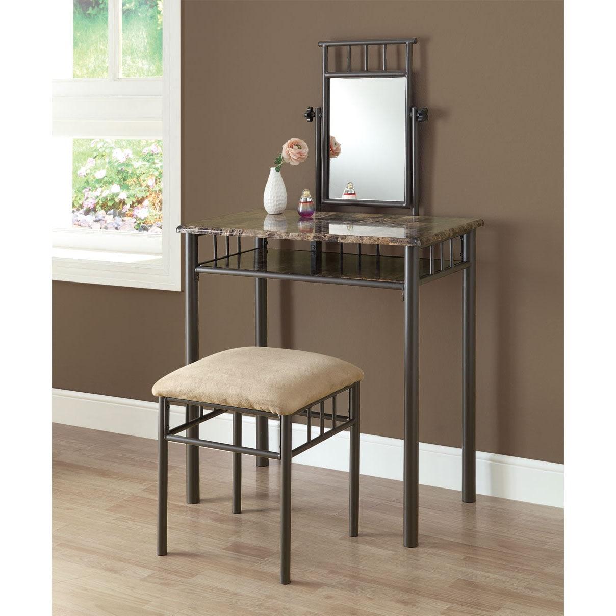 Two Piece Vanity Sets: Cappuccino Marble/ Bronze Metal 2-piece Vanity Set
