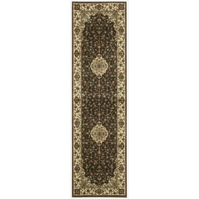 Nourison Persian Arts Brown Polyacrylic Rug - 2'3 x 12'