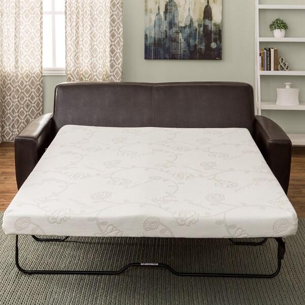 Innerspace 4 5 Inch Full Size Foam Sofa Sleeper Mattress