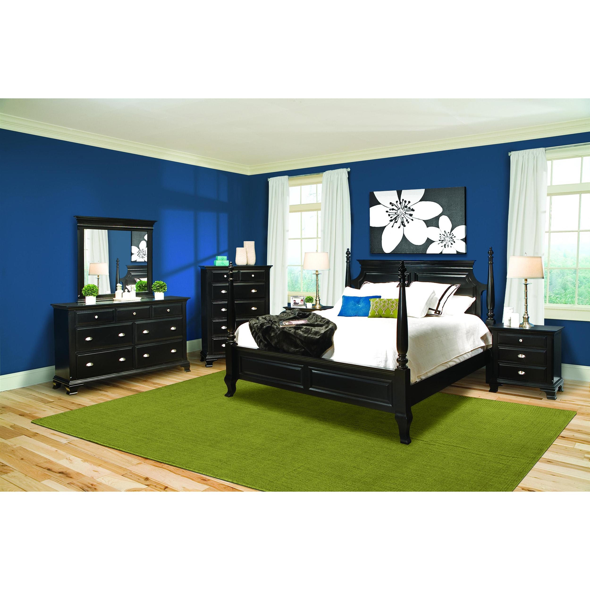 Vaughan Chelsea Black Contemporary King Bedroom Set (Set