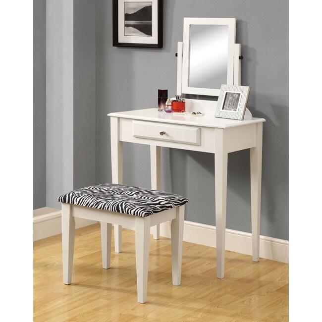 Bedroom Vanities Product: White Two-piece Vanity Set