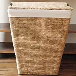 Brown Laundry Hamper With Two Compartment Sorter And