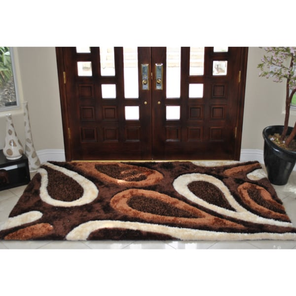 Everrouge Feather 3d Poly Silk Area Rug 5 X8 14359708