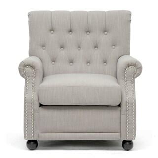 Awe Inspiring Baxton Studio Moretti Light Grey Linen Modern Club Chair Gamerscity Chair Design For Home Gamerscityorg