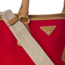 1f9ad5ef2b49 ... saffiano lux tote bag mini - Prada Red Canvas  Saffiano Leather Tote Bag  - 14364185 ...