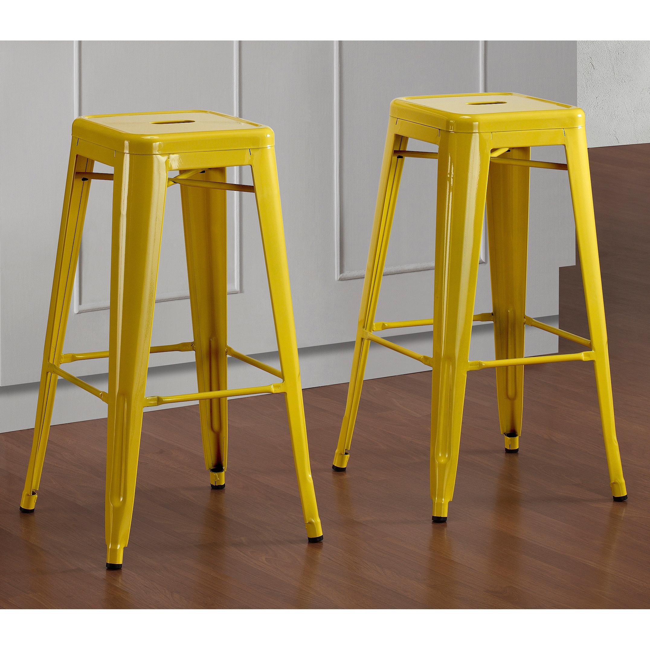 tabouret 30 inch lemon metal bar stools set of 2 overstock shopping great deals on bar stools. Black Bedroom Furniture Sets. Home Design Ideas
