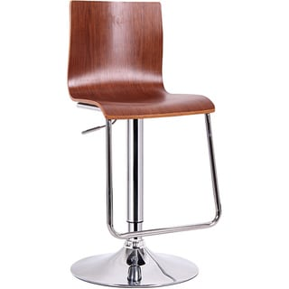 Zig Zag Height Adjustable Bar Stool In Walnut 15844911