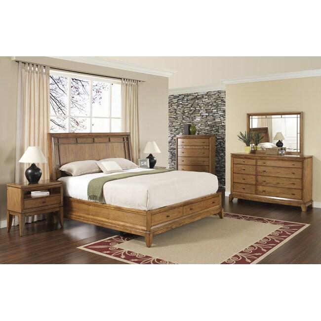 Toluca lake 5 piece queen size storage bedroom set - Queen size bedroom set with storage ...
