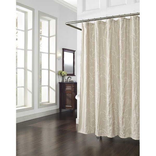 Vinery Embroidery Linen Shower Curtain 14366940