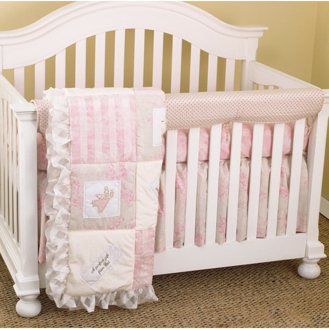 Cotton Tale Girls 4 Piece Crib Bedding Set In Heaven Sent