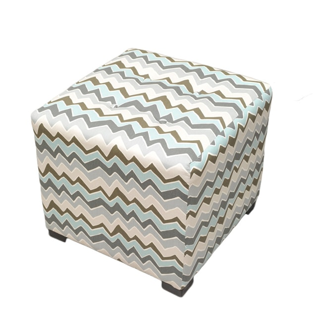 Sole Designs Denton Zigzag Square Ottoman 14378405