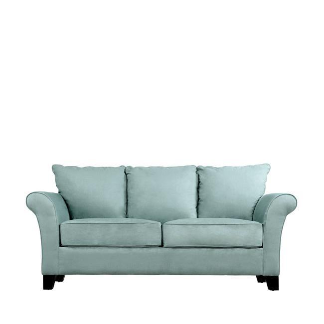 Provant Flared Arm Sky Blue Microfiber Sofa 13096932
