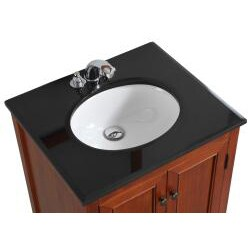 Windsor Cinnamon Brown 24-inch Bath Vanity with 2 Doors ...