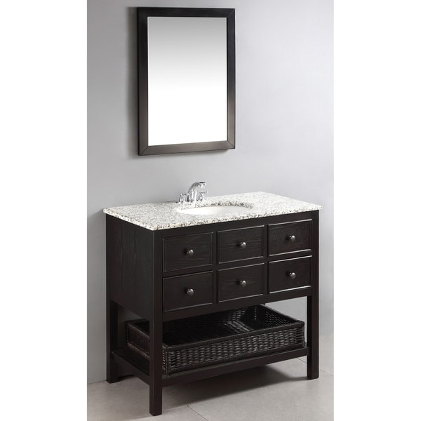 36 Inch Bathroom Vanity With Bottom Drawer