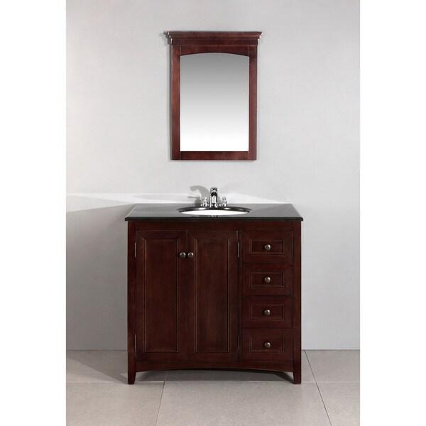 Windsor Walnut Brown 36-inch Bath Vanity with 2 Doors and ...