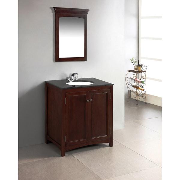 New Doors For Bathroom Vanity: Windsor Walnut Brown 30-inch Bath Vanity With 2 Doors And