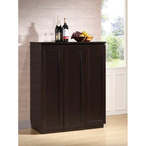 Modern Home Bar Cabinet: Baltimore Dark Brown Modern Bar Cabinet
