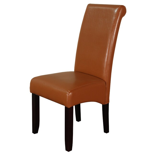 Monsoon Brown Faux Leather Dining Chairs (Set Of 2