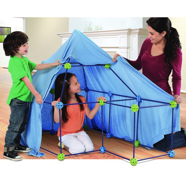 Discovery Kids 77-piece Build And Play Construction Fort