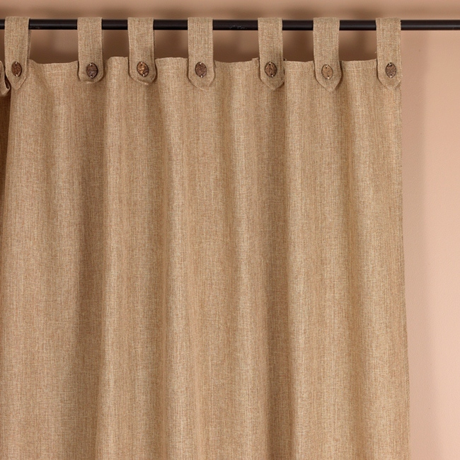 Classic Natural Tab Top 94 Inch Curtain Panel 14477516