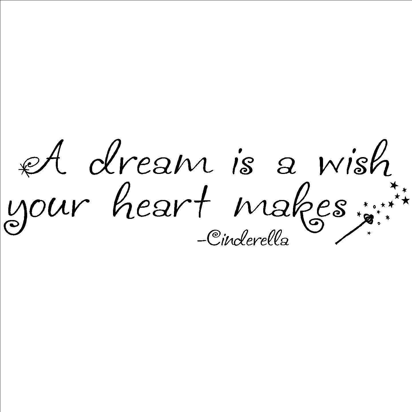 Dream Quotes From Cinderella. QuotesGram A Dream Is A Wish Your Heart Makes Images
