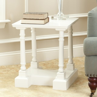 Safavieh Gomez Cream Corner Table 14846594 Overstock