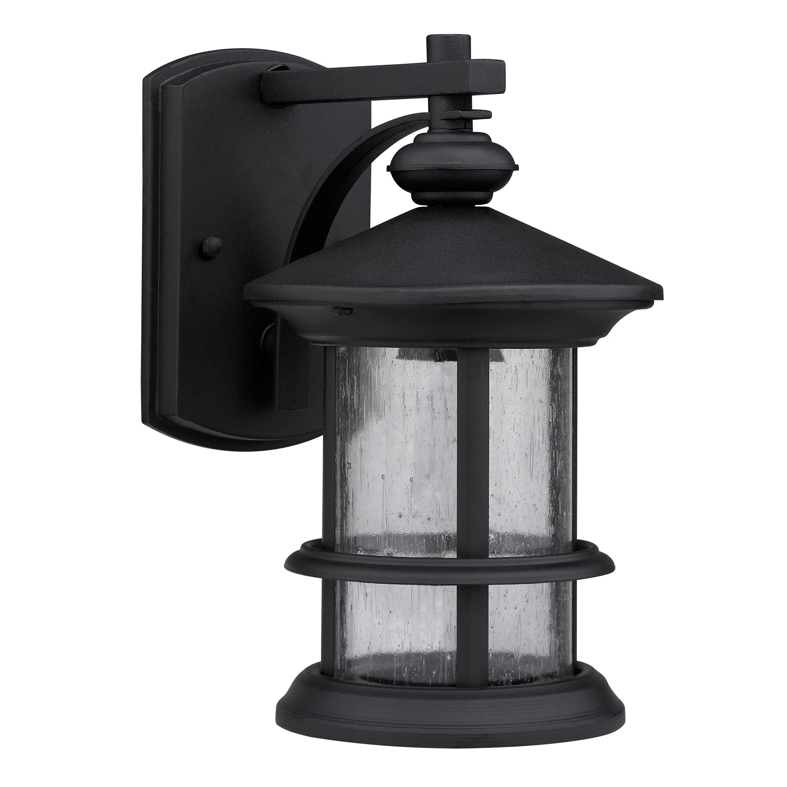 Transitional Black One-Light Weatherproof Outdoor Wall